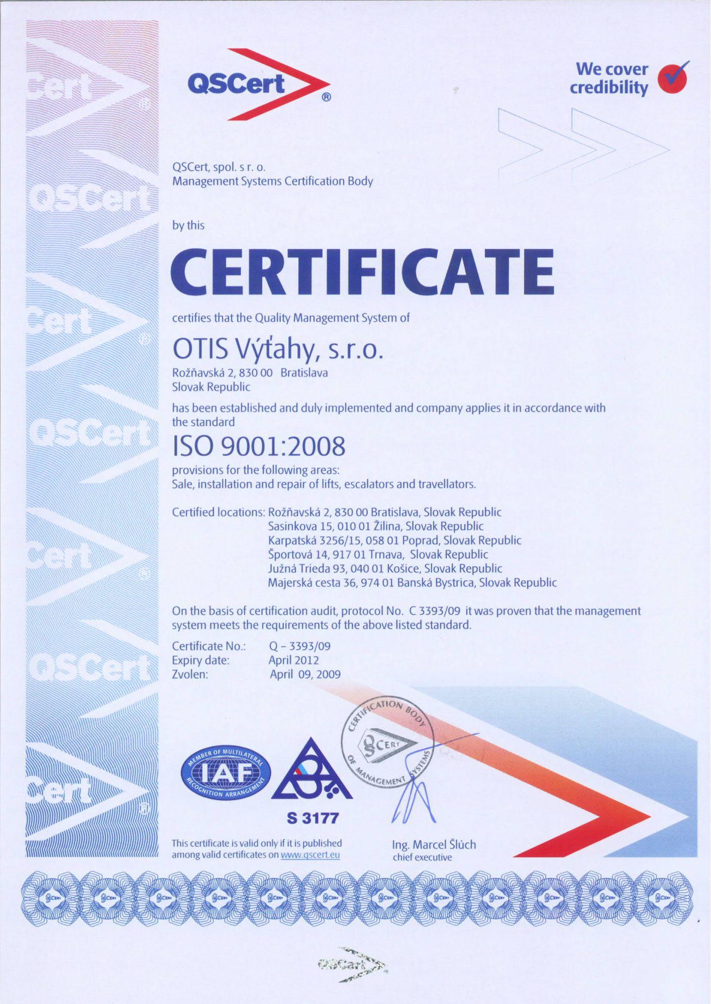 certificado qscert sede