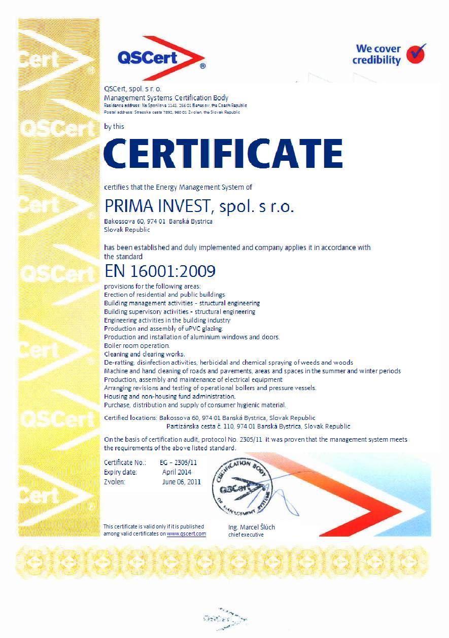 Certification according to en 16001 qscert example certificate en 16001 1betcityfo Choice Image